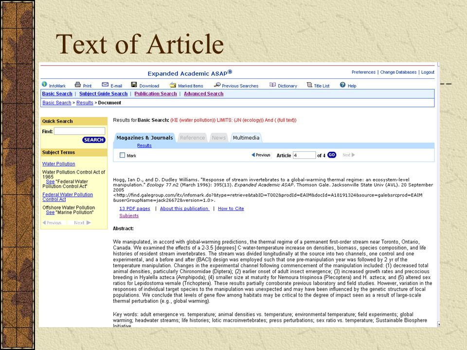 Text of Article