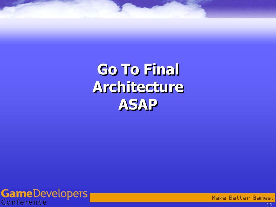 15 Go To Final Architecture ASAP