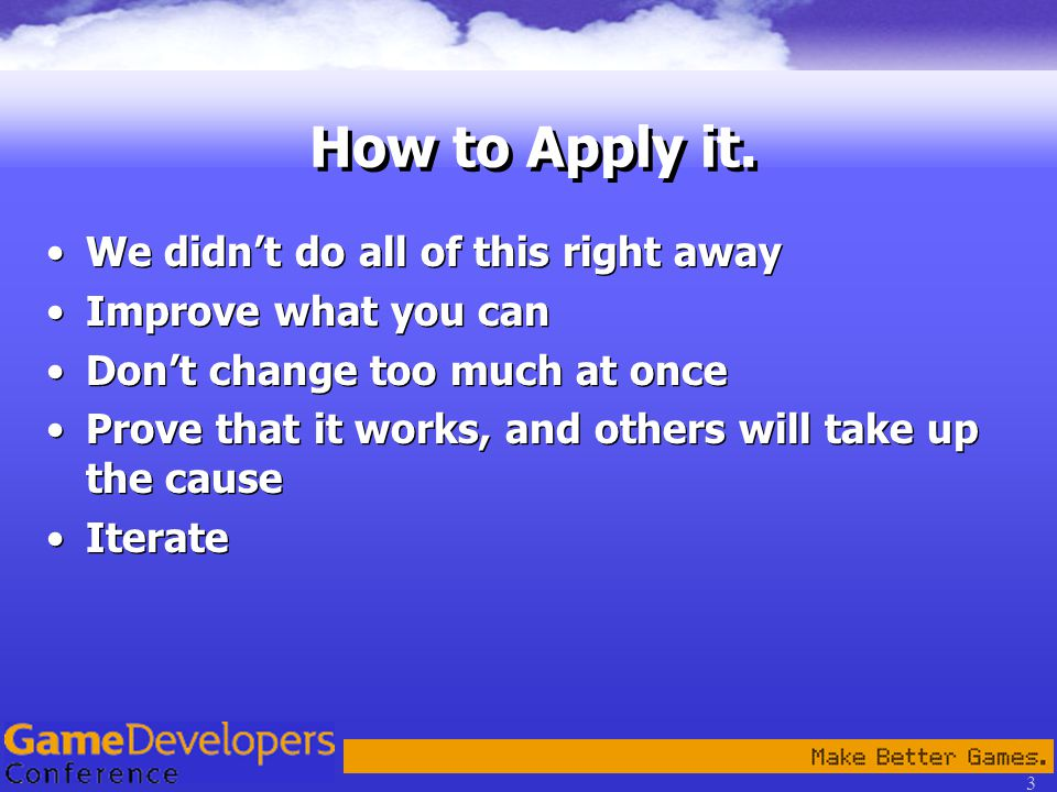 3 How to Apply it.