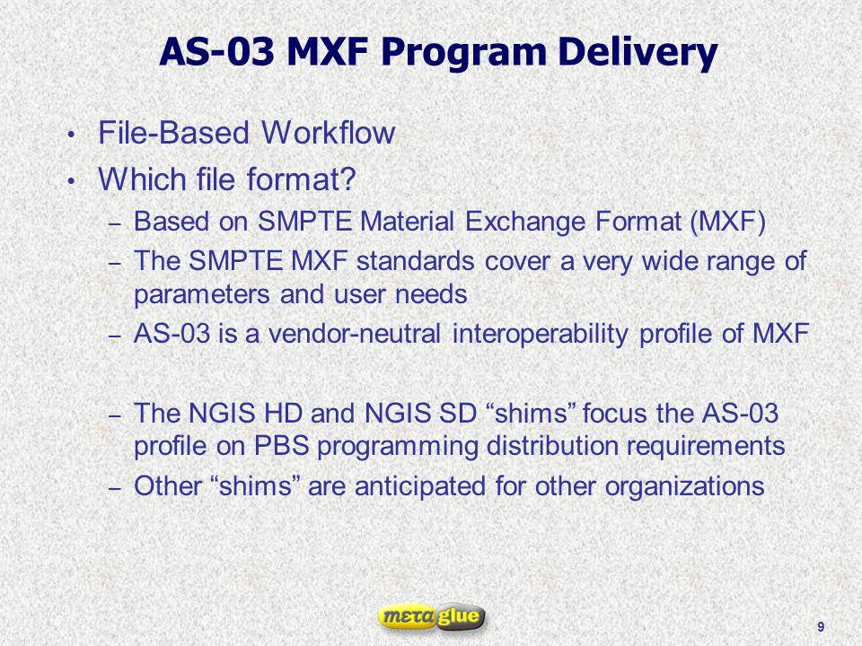10 Why MXF.
