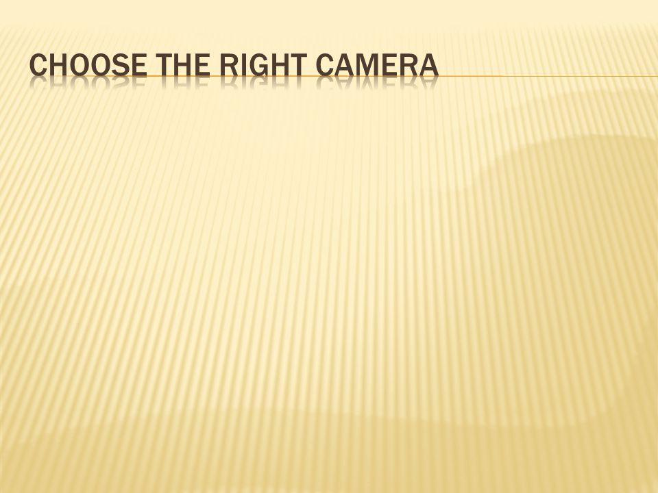  Camera phone/webcam  Point and Shoot  SLR (Single-Lens Reflex)