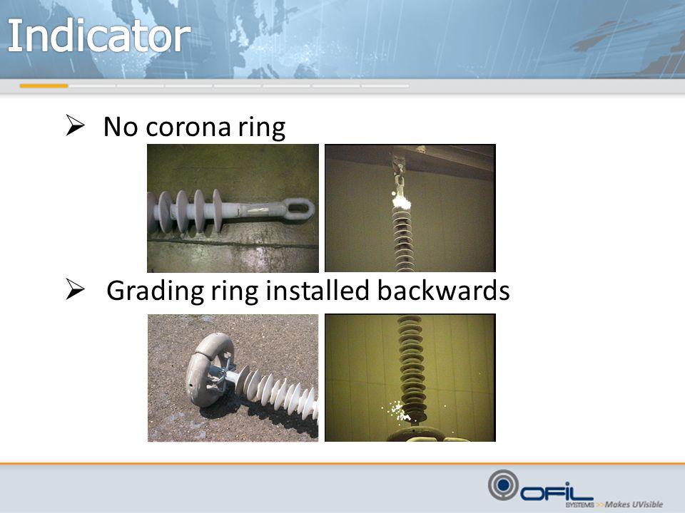  No corona ring  Grading ring installed backwards