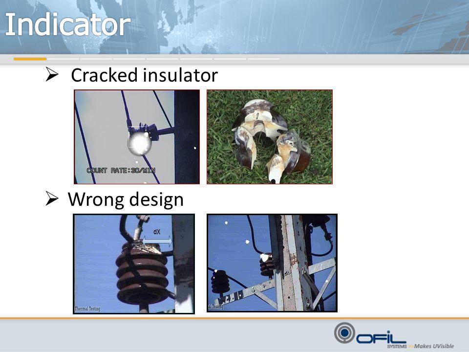  Cracked insulator  Wrong design