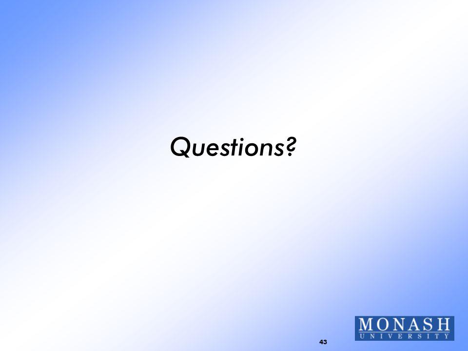 43 Questions