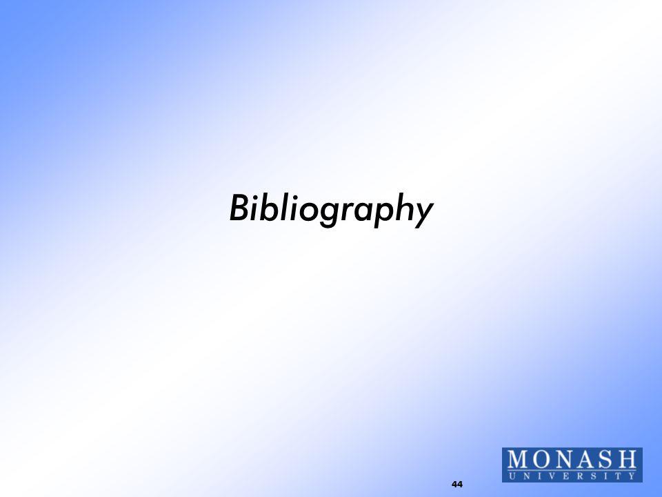 44 Bibliography