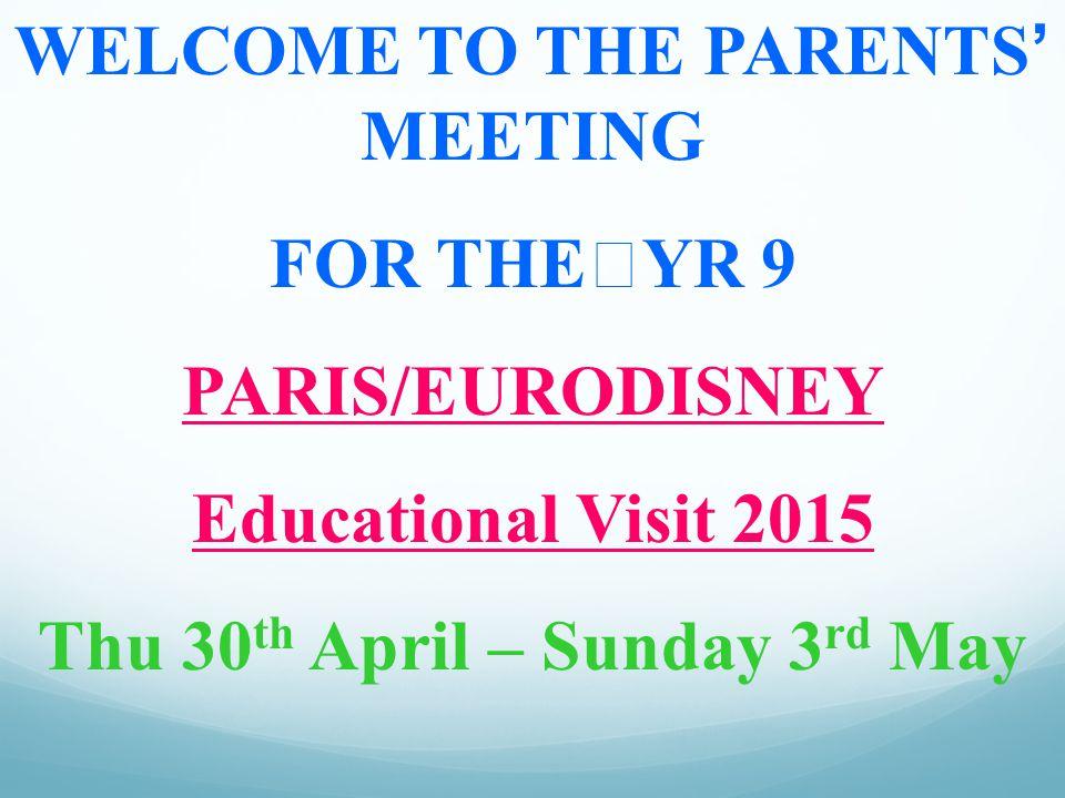 Sunday 3rd May 2015