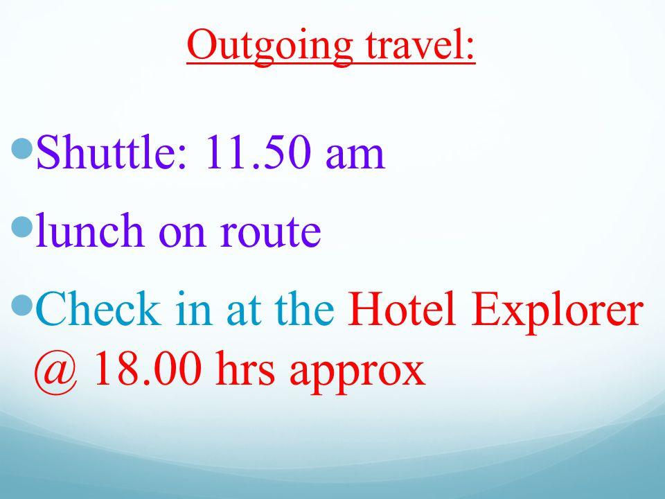 RETURN: Sunday 3rd May Leaving the Eurodisney hotel at 9.00 am.