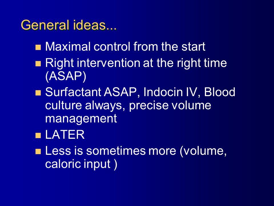General ideas...