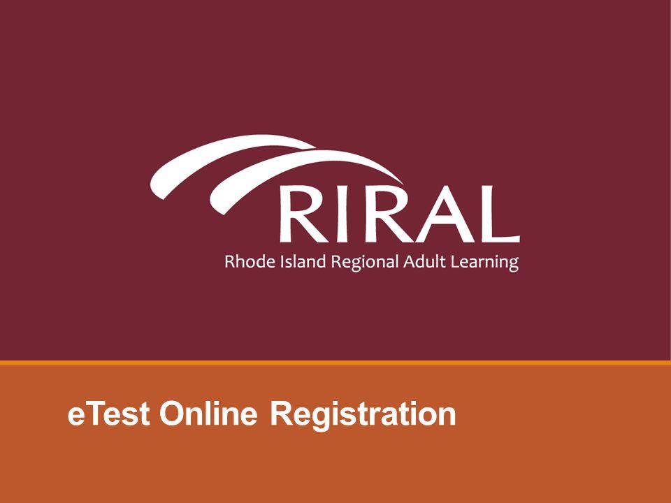 eTest Online Registration