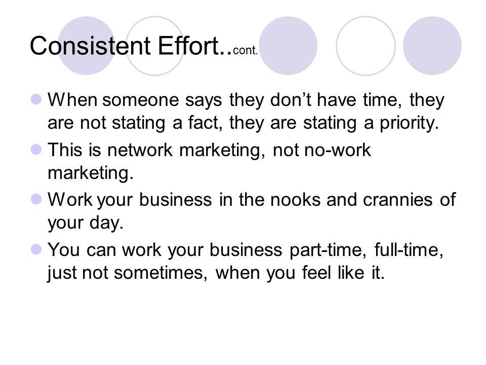 Consistent Effort..cont.