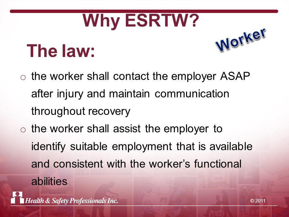 © 2011 Why ESRTW.