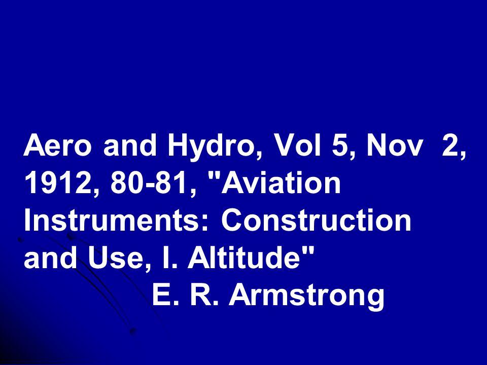 Aero and Hydro, Vol 5, Nov 2, 1912, 80-81, Aviation Instruments: Construction and Use, I.