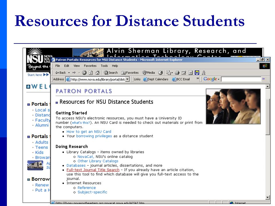 Resources for Distance Students