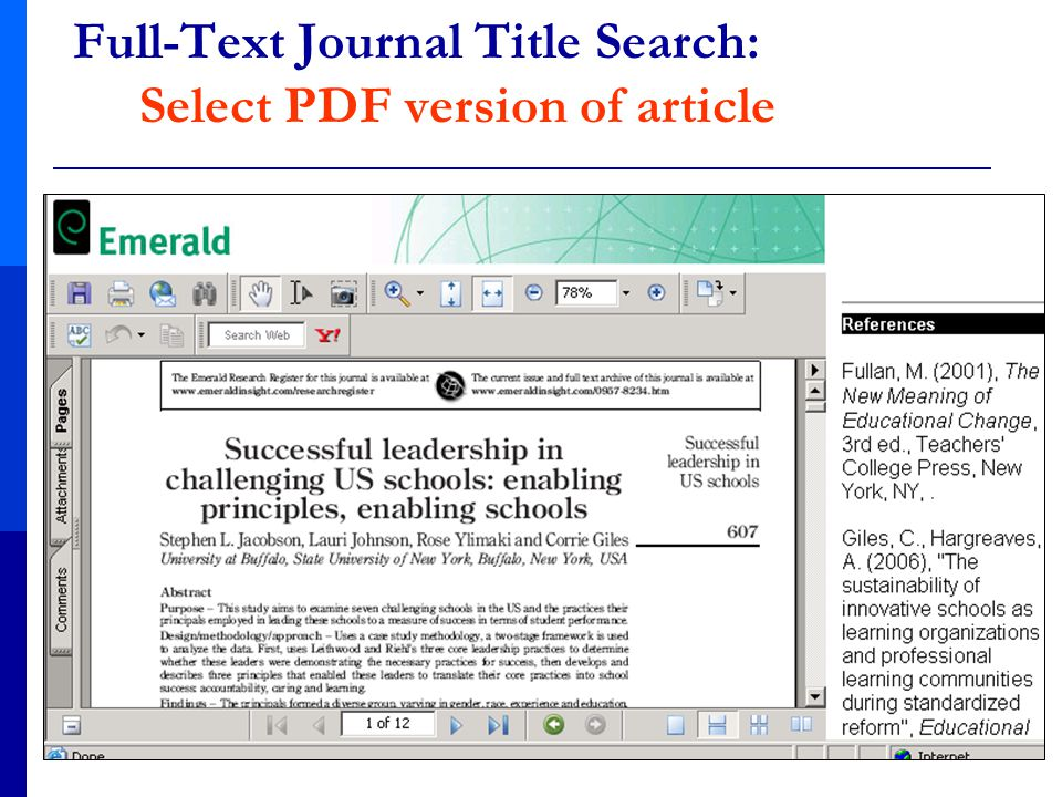 Full-Text Journal Title Search: Select PDF version of article