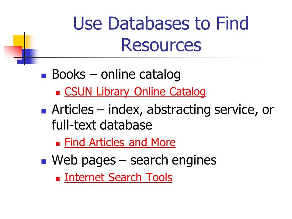 Internet Resources vs.