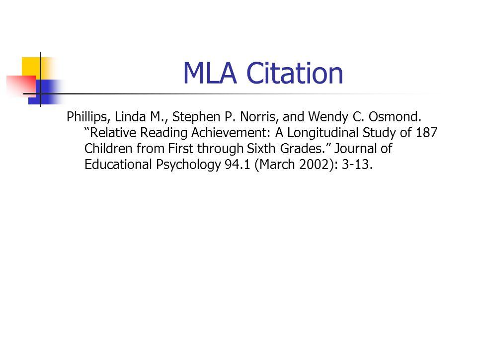 ERIC Citation TI: Relative Reading Achievement: A Longitudinal Study of 187 Children from First through Sixth Grades.