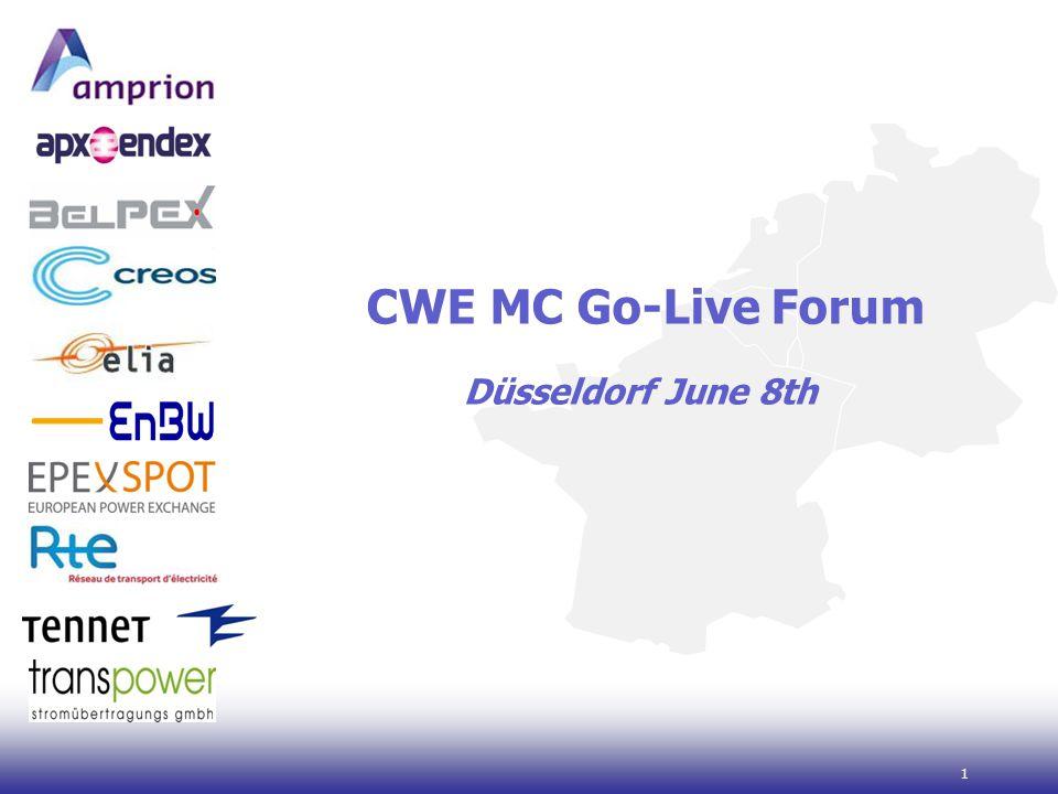 1 CWE MC Go-Live Forum Düsseldorf June 8th
