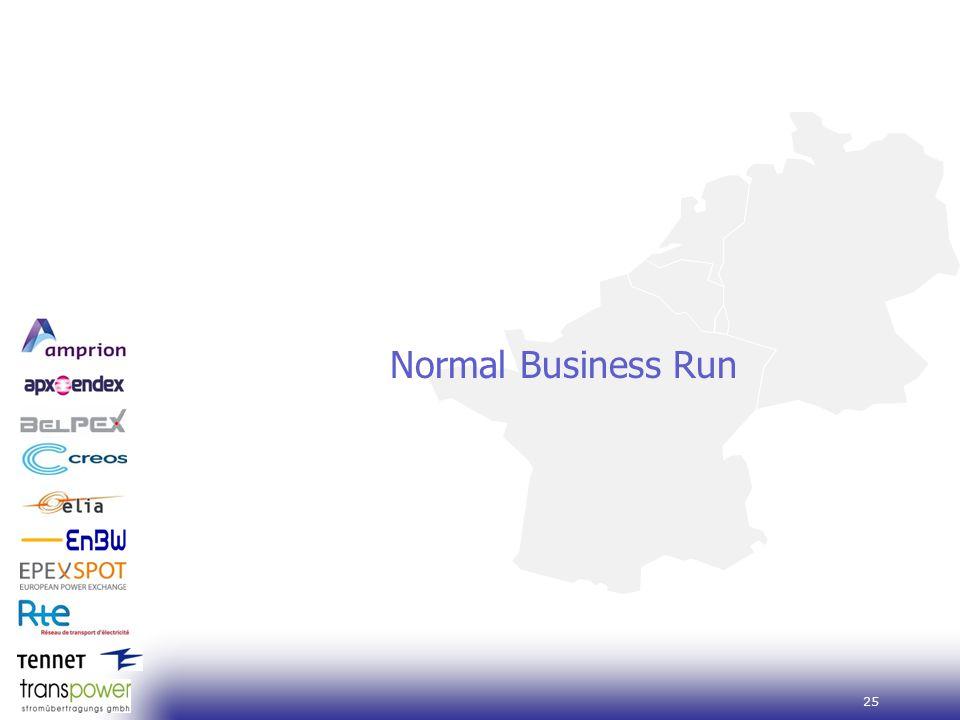 25 Normal Business Run