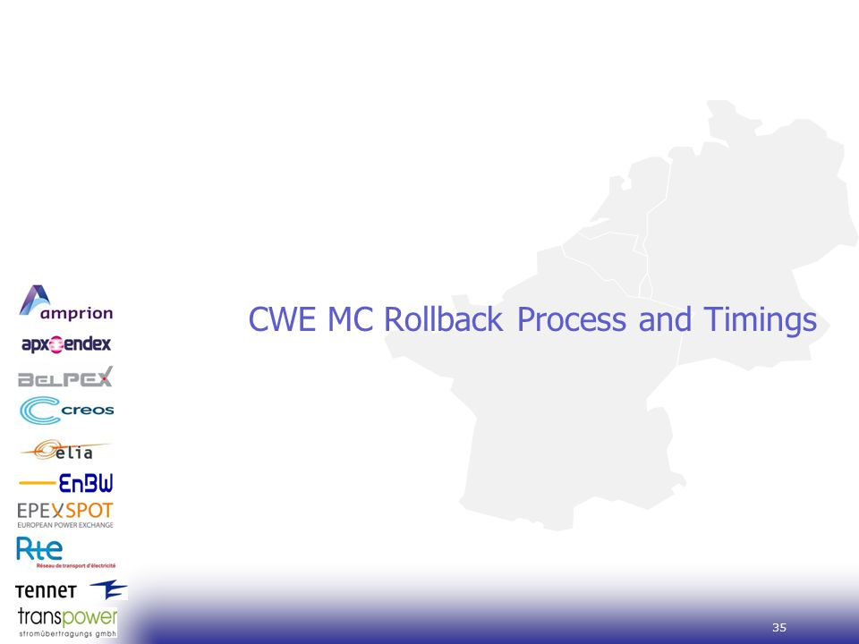 35 CWE MC Rollback Process and Timings