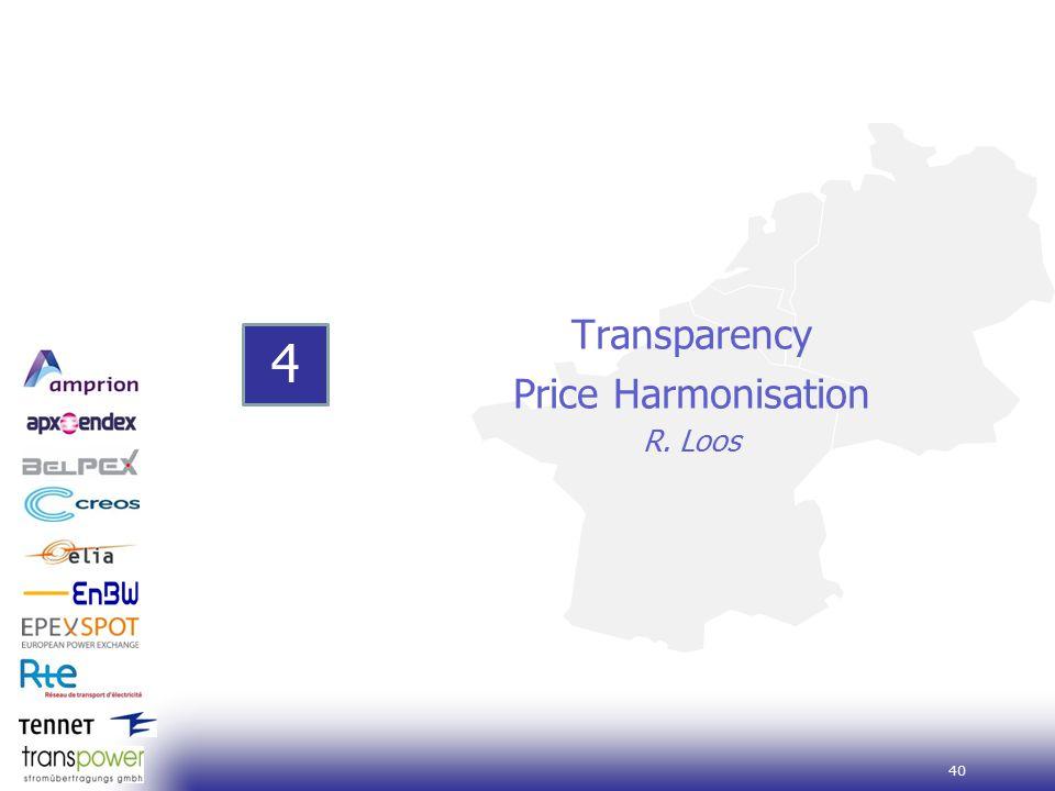 40 Transparency Price Harmonisation R. Loos 4