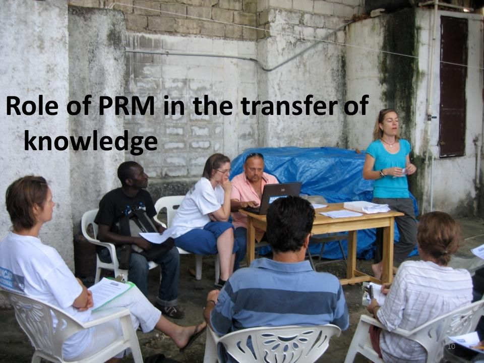 Role of PRM in the transfer of knowledge 10