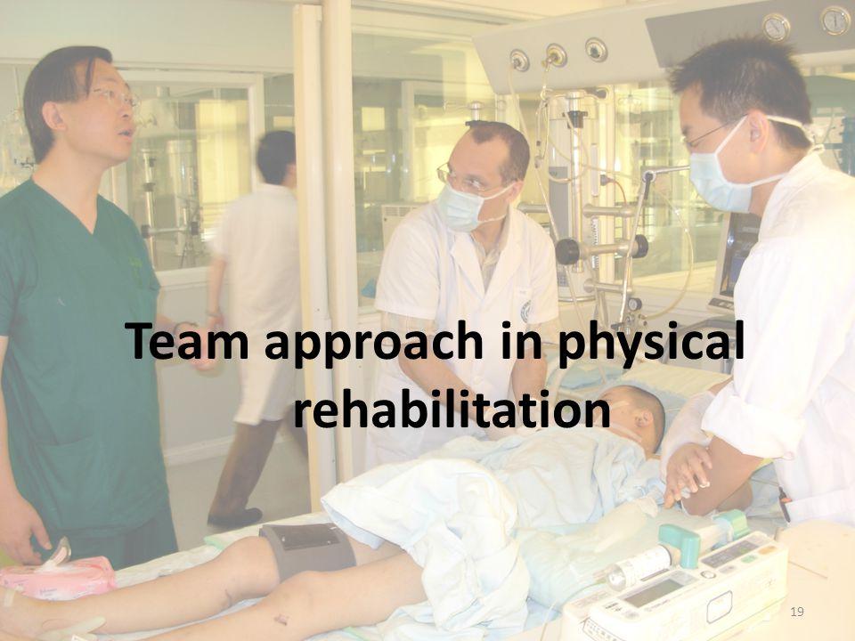 Team approach in physical rehabilitation 19