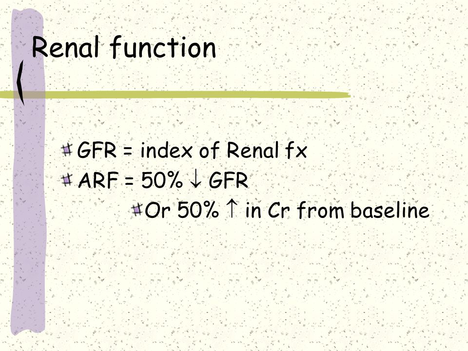 Renal failure Acute Renal failure A deterioration in Renal function over hours or days resulting in the accumulation of toxins and loss of internal homeostasis Chronic renal failure (ESRF) The irreversible loss of renal function resulting in the accumulation of toxins and loss of internal homeostasis
