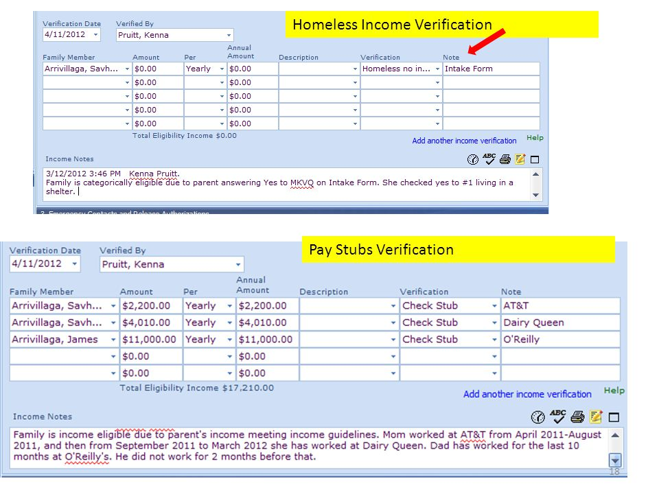 18 Homeless Income Verification Pay Stubs Verification