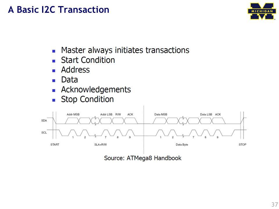 A Basic I2C Transaction 37