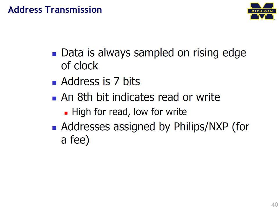 Address Transmission 40