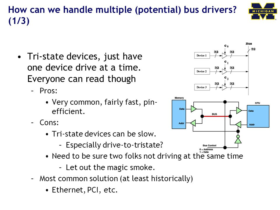 How can we handle multiple (potential) bus drivers.