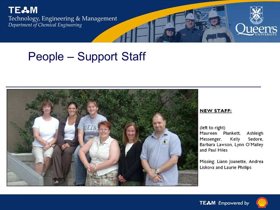 People – Support Staff