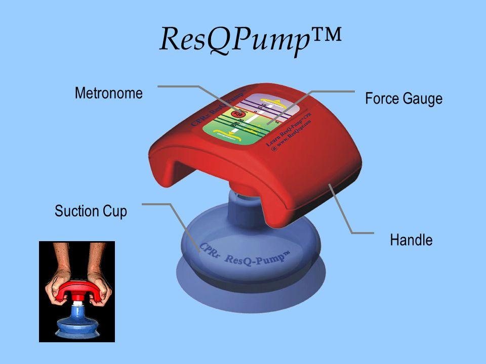 ResQPump™ Metronome Force Gauge Handle Suction Cup