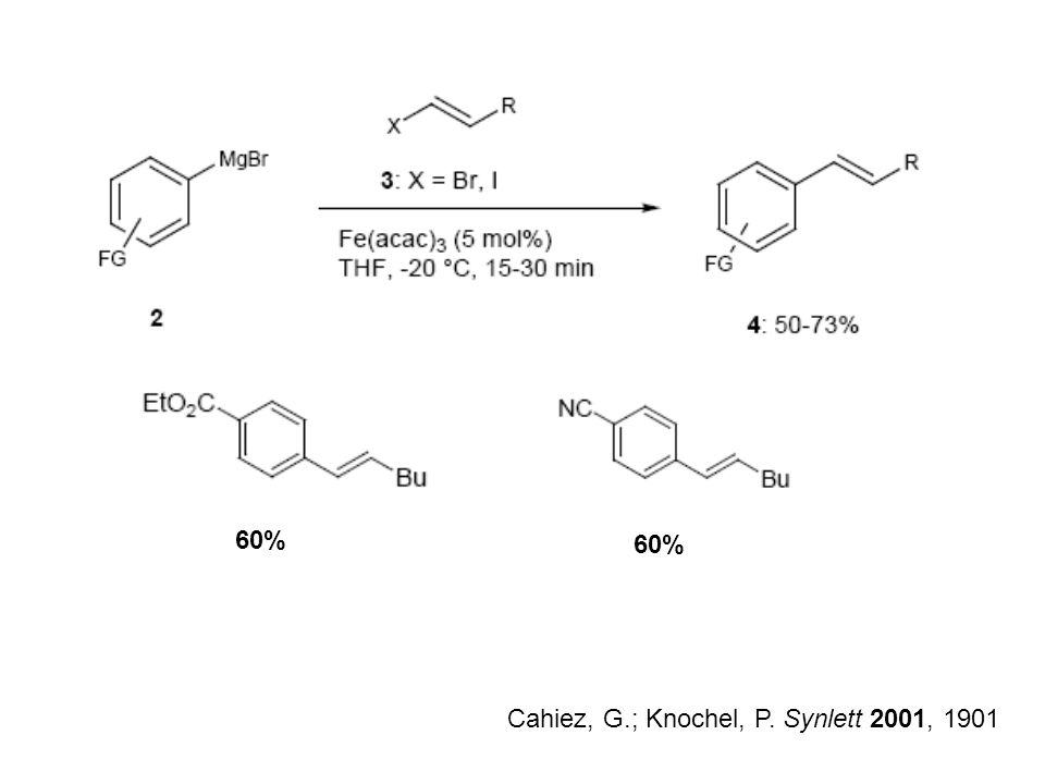 Cahiez, G.; Knochel, P. Synlett 2001, 1901 60%