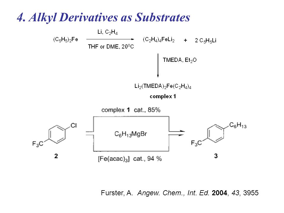4. Alkyl Derivatives as Substrates Furster, A. Angew. Chem., Int. Ed. 2004, 43, 3955