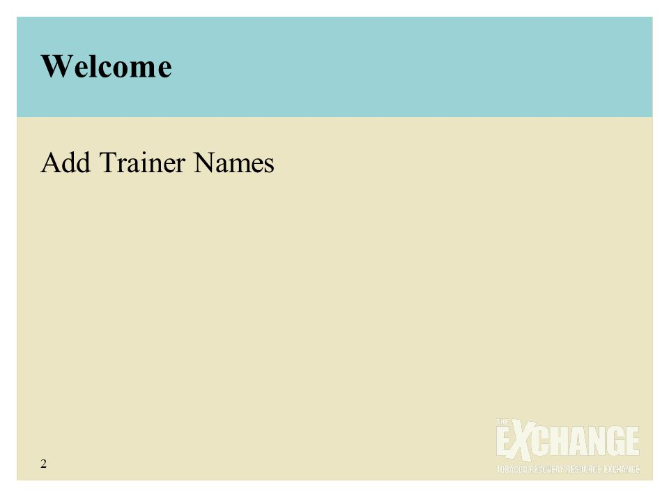 2 Welcome Add Trainer Names