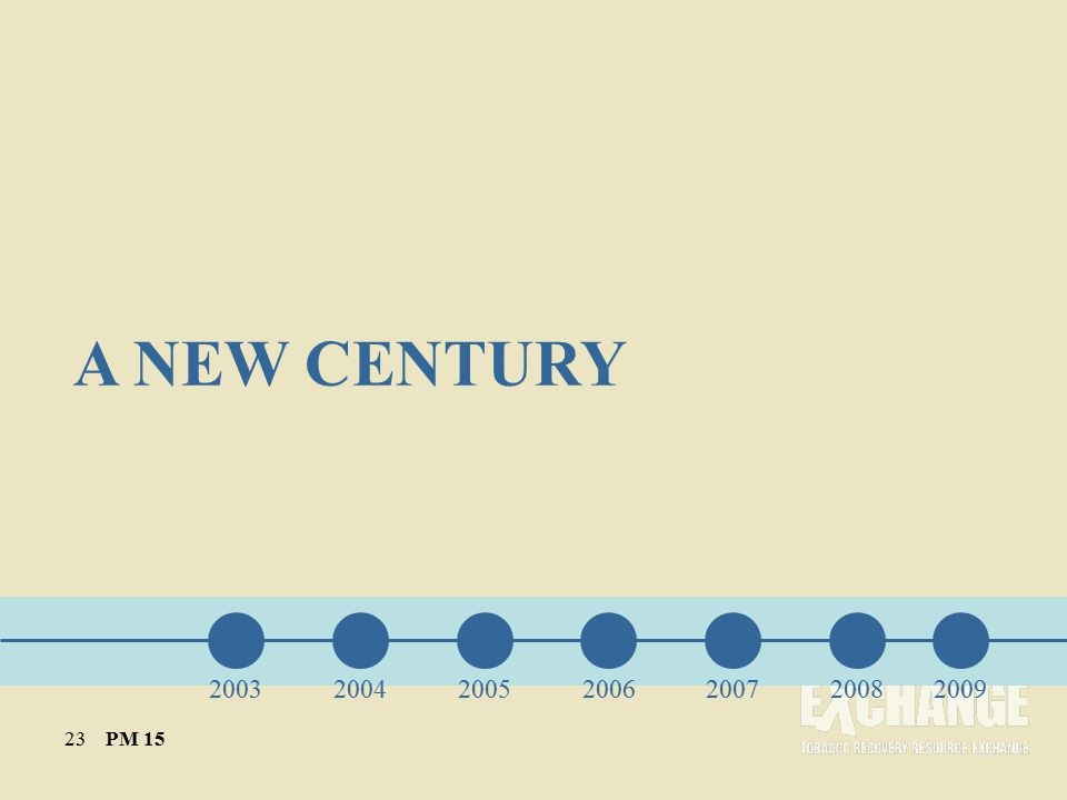 A NEW CENTURY 200320042005200620072008 23 PM 15 2009