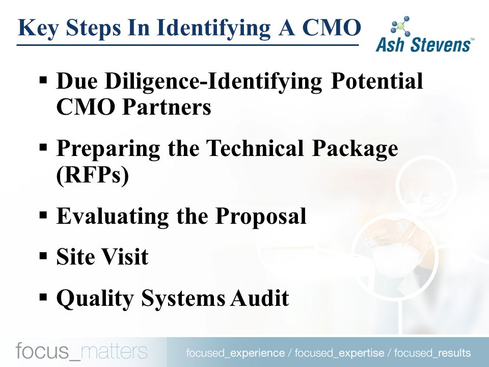 Due Diligence-Identifying A CMO Partner