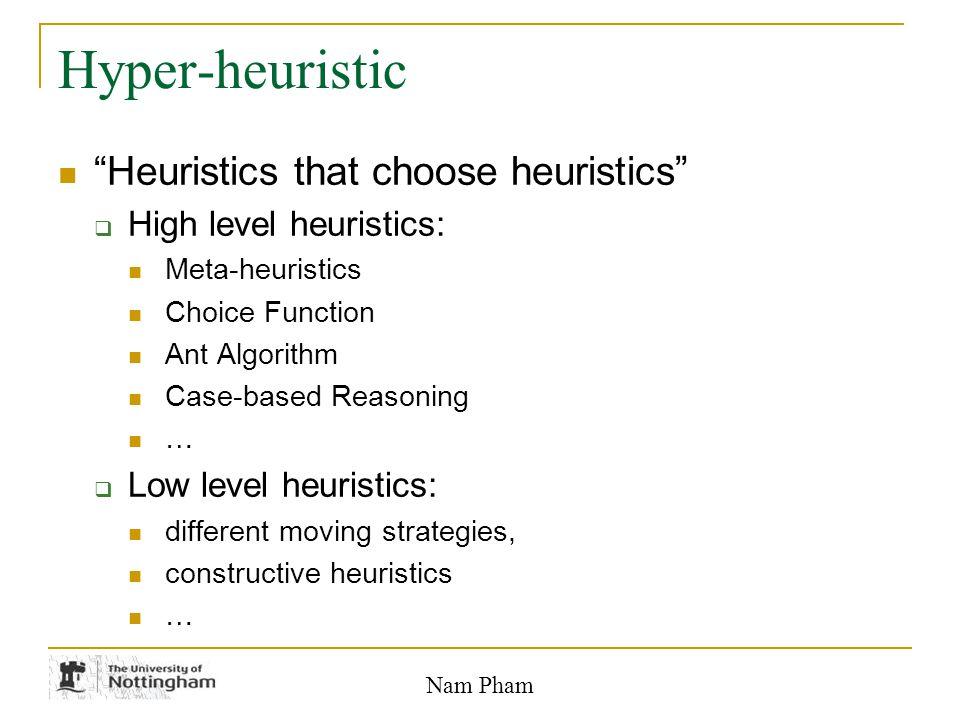 Nam Pham Hyper-heuristic Framework