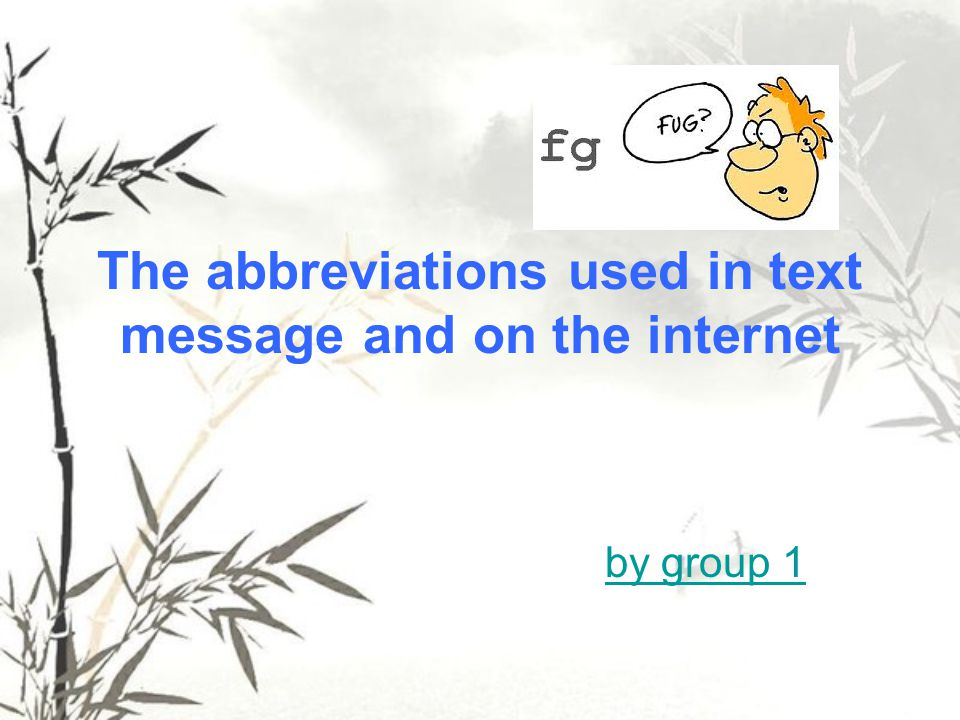 However, abbreviations are not always ready to be used properly.