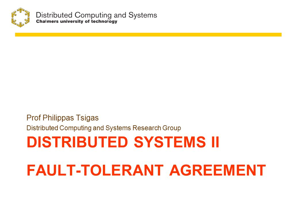 Impossibility of 1-resilient 3-processor Agreement 22 A:V A =0 B:V B =0 C:V C =0 A´:V A´= 1 B´:V B´ =1 C´:V C´ =1 E0E0
