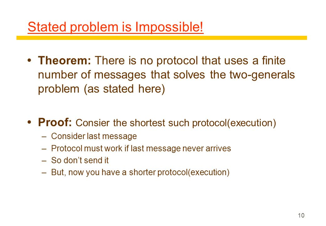 10 Stated problem is Impossible.