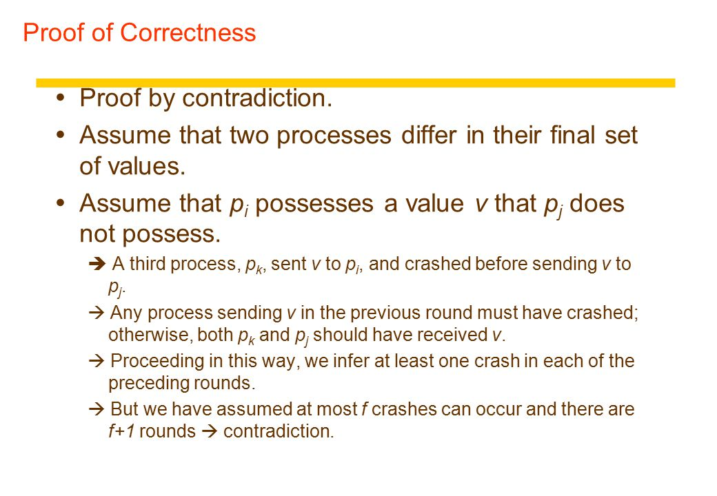 Proof of Correctness  Proof by contradiction.