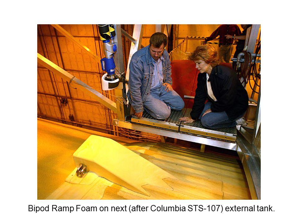 Bipod Ramp Foam on next (after Columbia STS-107) external tank.
