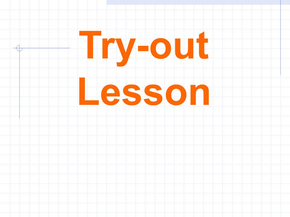 Try-out Lesson