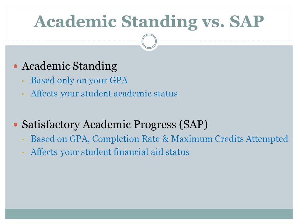 Academic Standing vs.