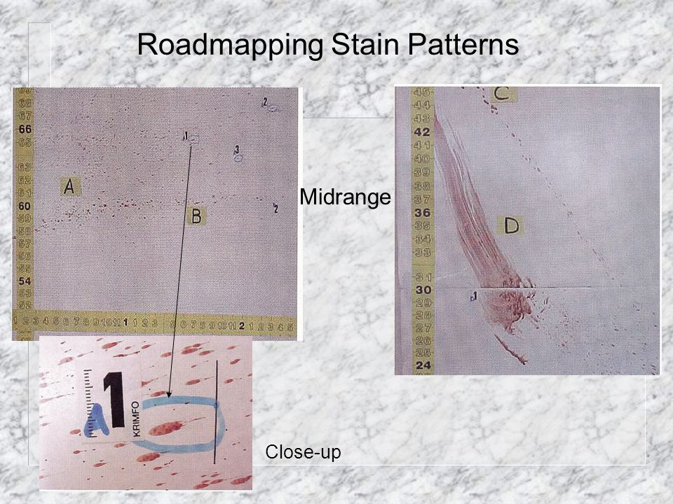 Roadmapping Stain Patterns Midrange Close-up