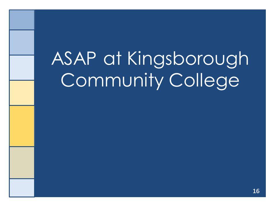 16 ASAP at Kingsborough Community College