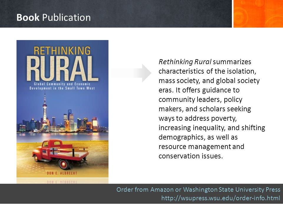 Rethinking Rural summarizes characteristics of the isolation, mass society, and global society eras.