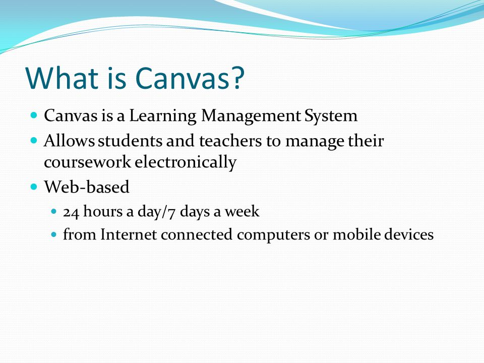 What is Canvas.